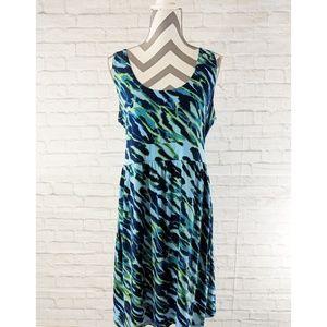 MICHAEL Michael Kors Abstract Print Dress